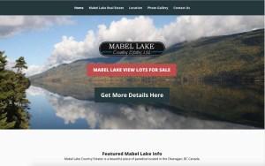 MabelLake.ca Waterfront Real Estate Website