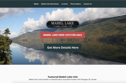 MabelLake.ca :: Waterfront Real Estate Website
