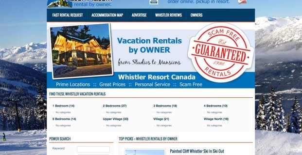 Whistler.ResortAc.com :: Vacation Rental by Owner VRBO Website Project