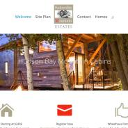 Real Estate Development Website for HudsonBayMountainCabins.com