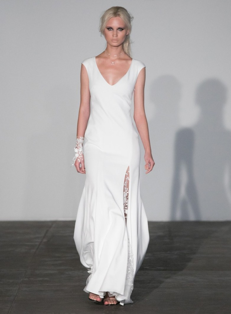 Courtesy of Rime Arodaky Wedding dress by Rime Arodaky