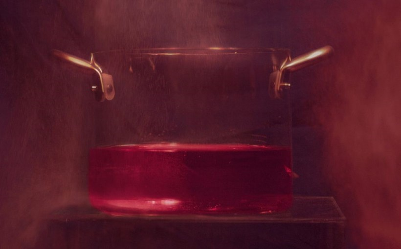 Glasspot fondo rosso