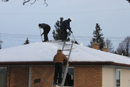 Rooftop Snow Removal, ice dam, ice damming, home insulation