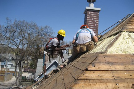 Roofing and insulating Winnipeg roof