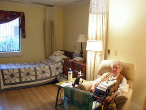 Another view of Mother in her new room