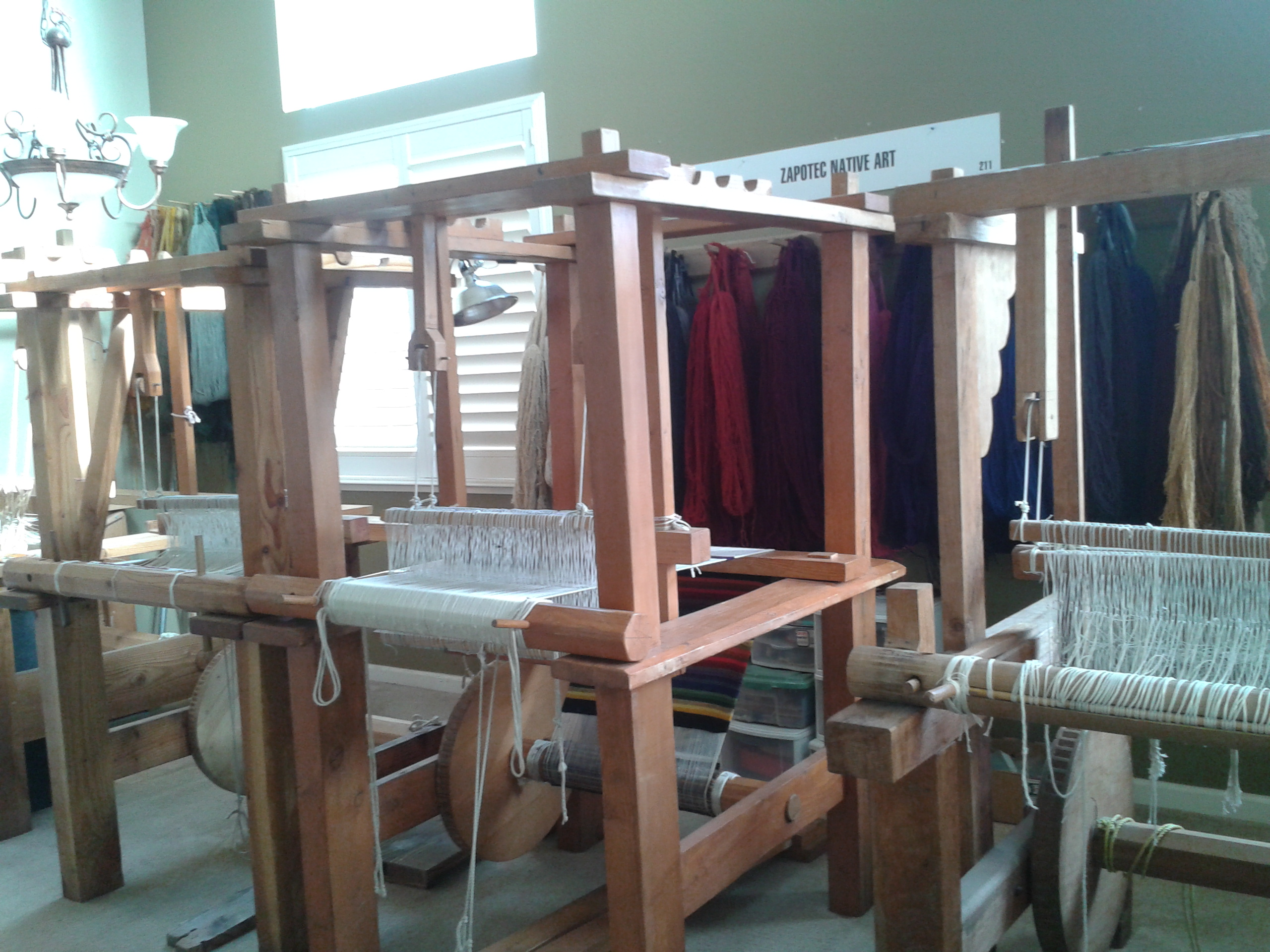 Three looms in the main room