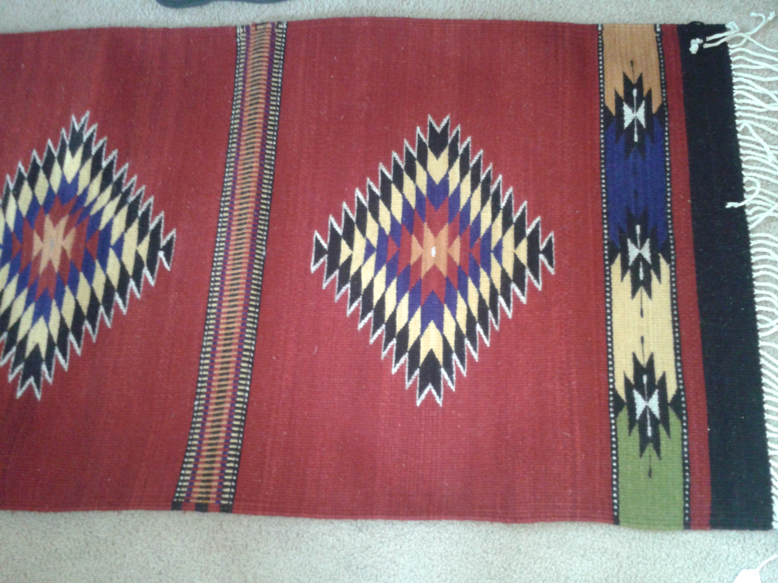 An original rug based on traditional designs