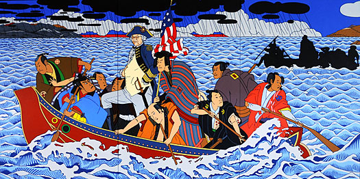 Painting by Roger Shimomura