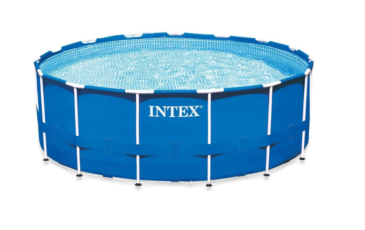 Intex metal frame above ground pool review best above for Intex mini frame pool afdekzeil