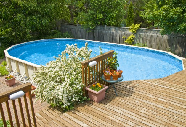 beautify an above ground pool