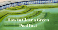 How to Clear a Green Pool Fast