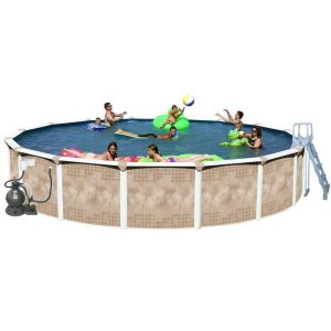 Splash Pools Round Deluxe Pool Package