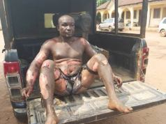 GRAPHIC: Man stabs own mother, sets self on fire in Imo