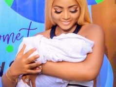 Regina Daniels' Tattoos Her Baby's Name On Her Wrist (Photos)