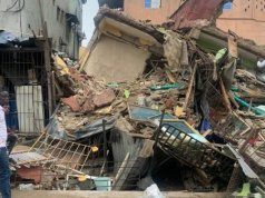 Breaking News: Six Rescued, Others Feared Trapped As 3-Storey Building Collapses In Lagos