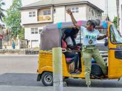 Female Corps Member, Susan Joseph Saved Her NYSC Allowance & Used It To Buy Keke Napep (Photos)