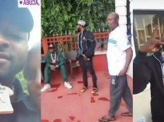 Davido And His Crew Members Paid Courtesy Visit To Ned Nwoko And His Wife, Regina (Video)