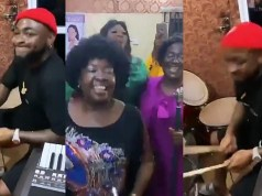 Davido Shows His Drumming Skills During Praise And Worship In Church (Video)