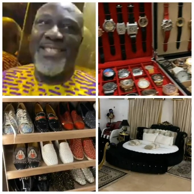 Dino Melaye Shows Off His Expensive Watches, Shoes And More As Dele Momodu Takes Tour Of His Abuja Home (Video)