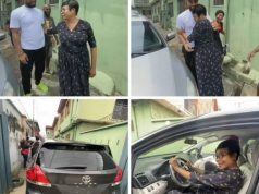Nollywood Actor, Alex Ekubo Buys His Mum A Car (Video)