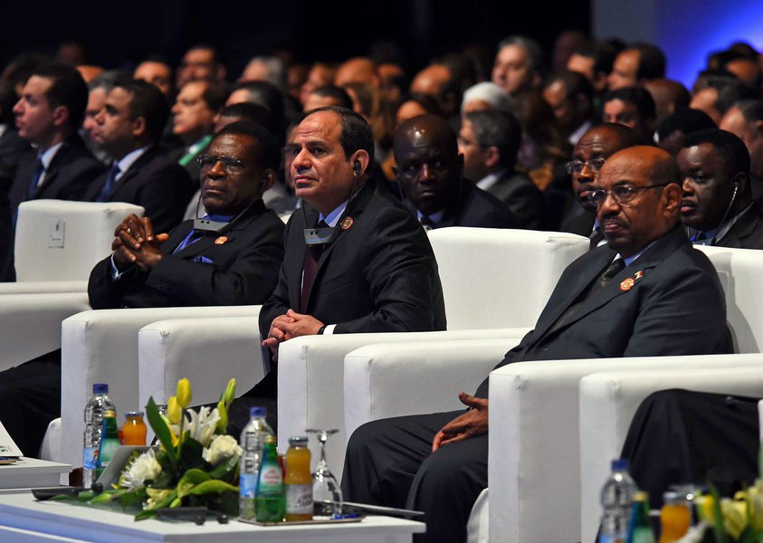 A cross section of African leaders at the 'Business for Africa' conference in Egypt