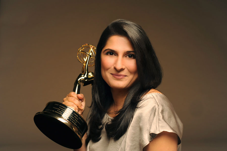 Sharmeen Obaid Chinoy with emmy Feb 2012