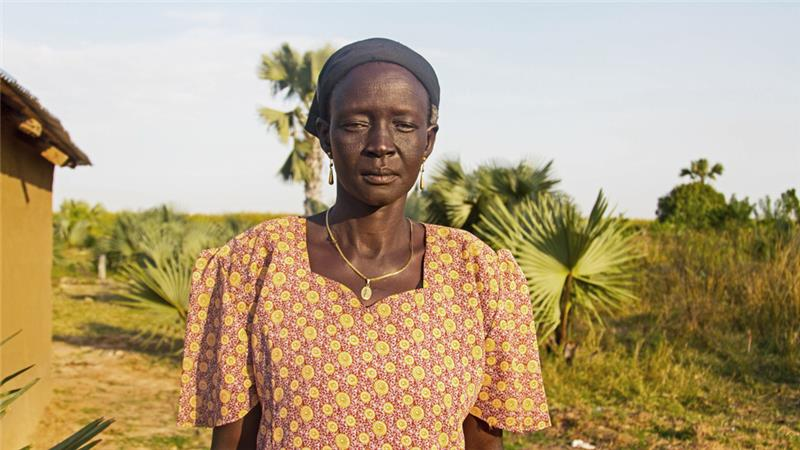 Elizabeth Nyanyot Diu was married off when she was 12 years old [Caitlin McGee/Al Jazeera]