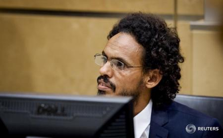 Ahmad Al Faqi Al Mahdi ( a.k.a. Abu Tourab) sits in the courtroom of the International Criminal Court (ICC) in the Hague the Netherlands, September 30,2015.  REUTERS/Robin van Lonkhuisen/Pool