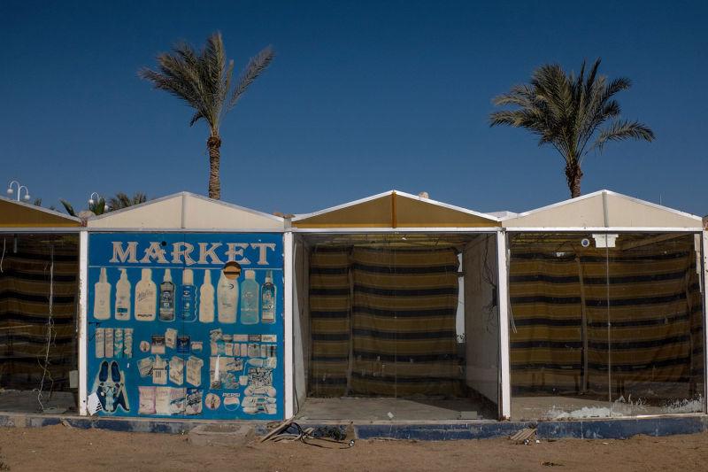 Empty market stalls (Photo: Chris McGrath/Getty Images)