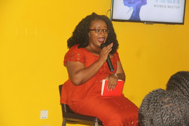 "Mrs Temie Giwa Tunbosun of ""LifeBankApp giving the Keynote Talk at the SciTech Meetup"