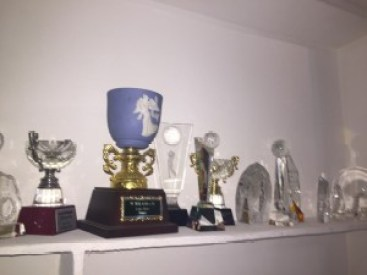 Mrs. Ransome Kuti's trophy golf trophy collection