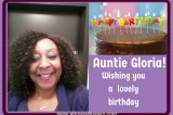 Happy Birthday Auntie Gloria!
