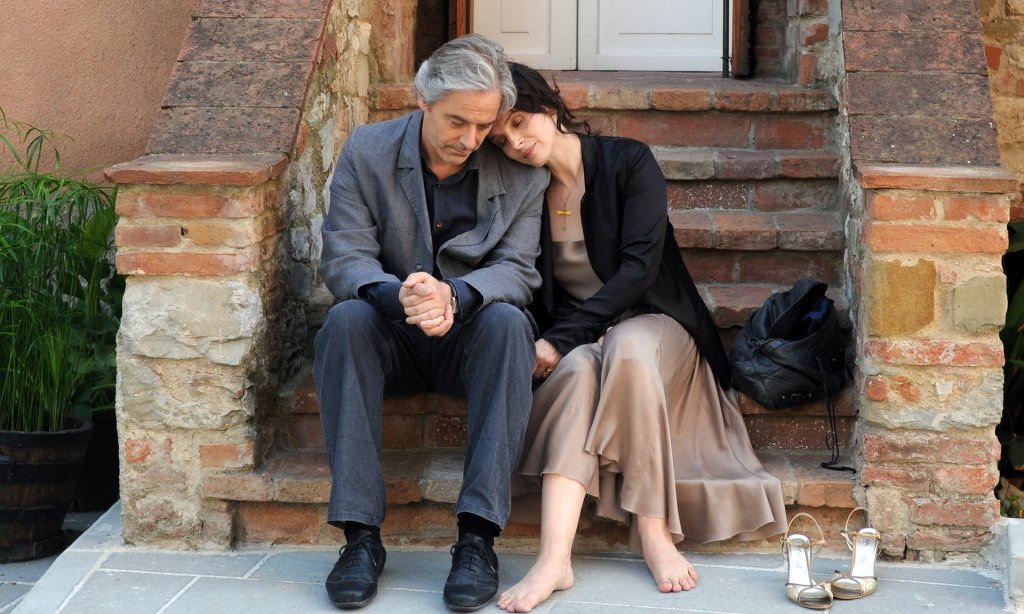 Awarded ... William Shimell and Juliette Binoche in Certified Copy Photograph: Publicity image from film company
