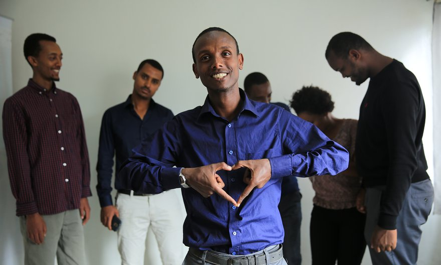Befeqadu Hailu and eight friends were jailed for 18 months for blogging about the government. Photograph: Befeqadu Hailu