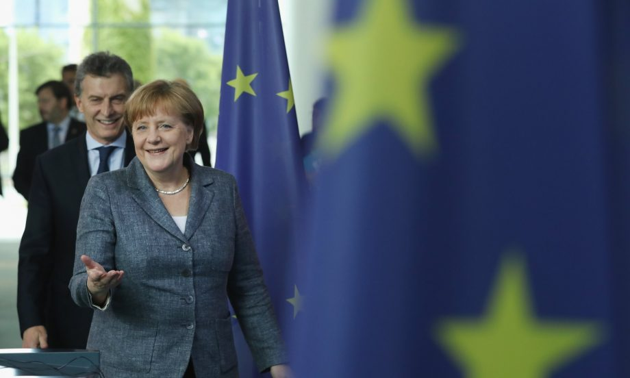 Rightwing populist parties have suffered a drop in approval ratings whereas establishment parties such as Angela Merkel's CDU have enjoyed gains. Photograph: Sean Gallup/Getty Images
