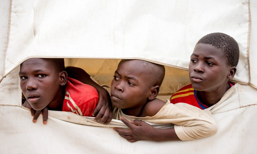 Young refugees in Minawao camp in northern Cameroon. In sub-Saharan Africa, nearly 30 million children of primary school age are out of education. Photograph: Andrew Harnik/AP