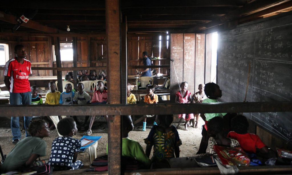 Nigerian children at a primary school in Makoko, Lagos. The international commission on financing global education opportunity will make recommendations to the UN in September. Photograph: Sunday Alamba/AP
