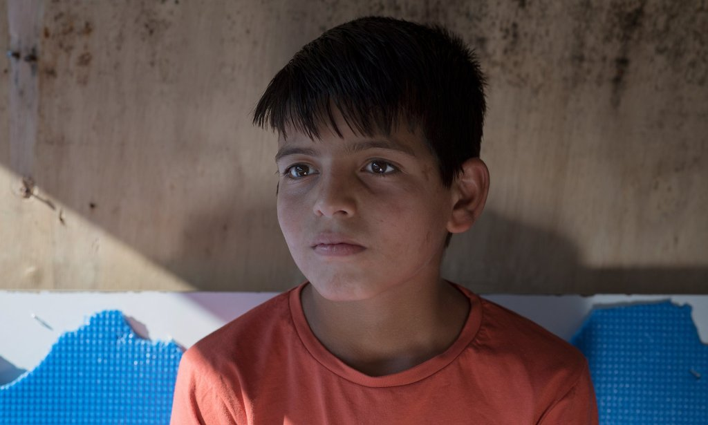 Abdul wants to be an engineer and a doctor when he is older. Photograph: Alecsandra Raluca Drăgoi for the Guardian