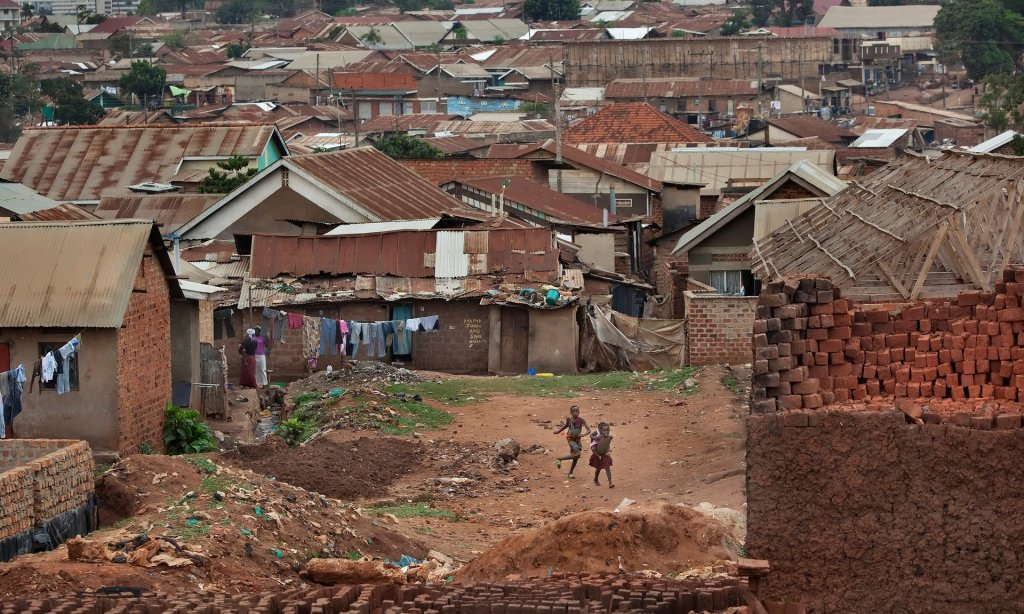 Local hero: Phiona Mutesi's neighbourhood in Kampala, Uganda. Photograph: Stephanie Sinclair