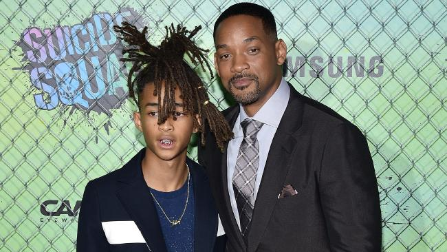 Will Smith with his son Jaden at the Suicide Squad premiere earlier today. Picture: Bryan Bedder/Getty Images for CarreraSource:Getty Images
