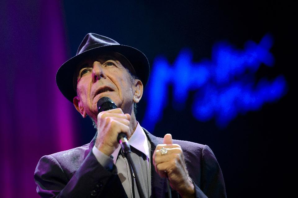 Leonard Cohen at he 47th Montreux Jazz Festival (FABRICE COFFRINI/AFP/Getty Images)