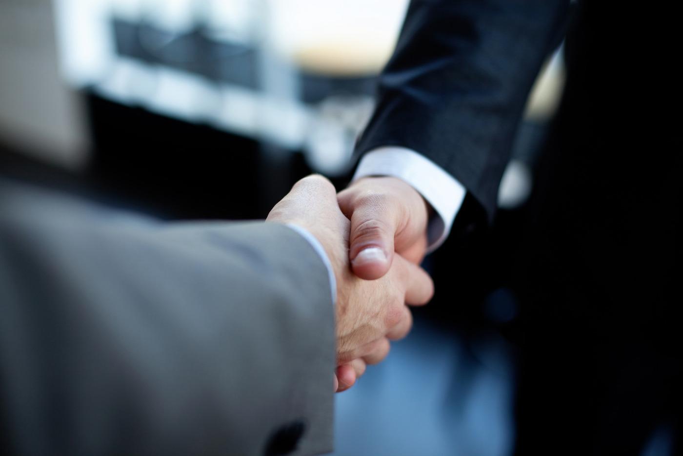 Handshake  of two businessman.