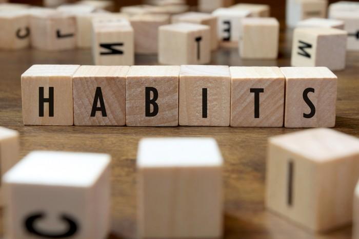 Habits Scrabble tiles