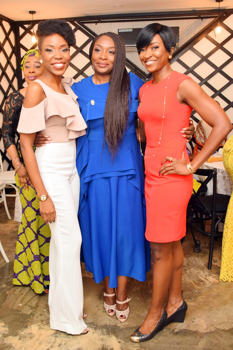 L-R: Kemi 'Lala'Akindoju, Ego Boyo (President, IWS) and Kate Henshaw at the IWS Breakfast meeting.