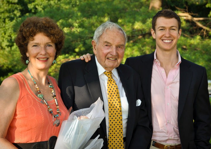 My mother, my grandfather and me in 2011