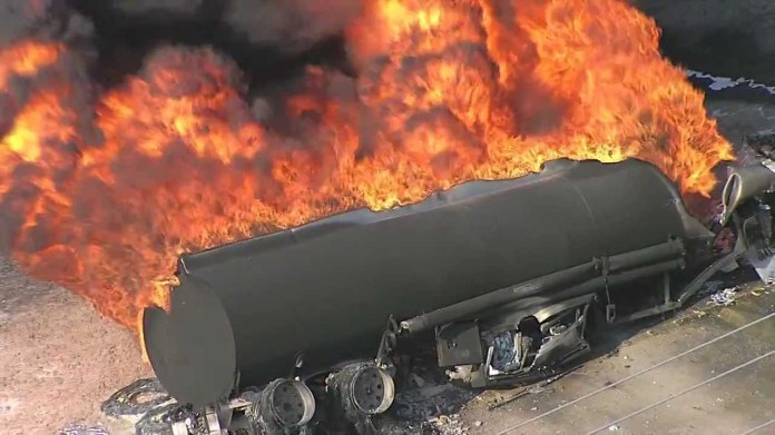 Image result for burnt fuel tanker