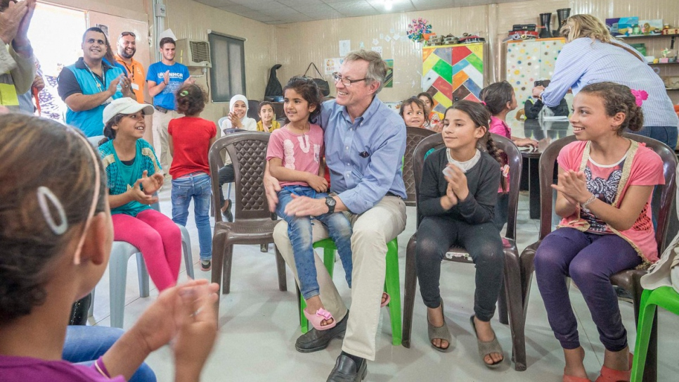 IKEA Foundation CEO Per Heggenes meets with some of the refugees supported by UNHCR. © UNHCR/Benoit Almeras Martino