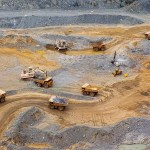 Equipment in Acacia Mining's North Mara open-pit gold mine in northeast Tanzania