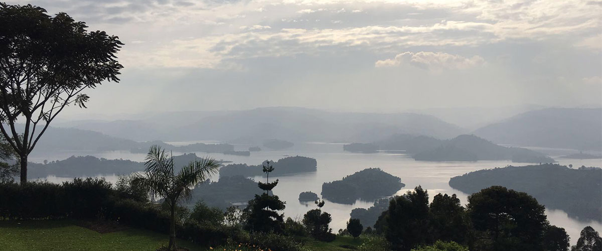 View of Lake Bunyonyi from a nearby hilltop (Kabale, Uganda - 2016). UN Photo/MjG