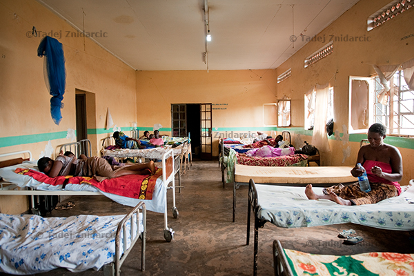 Expecting mothers wait in the antenatal ward of Mityana Hospital, Uganda.